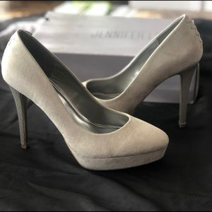 Grey High Heel Pumps